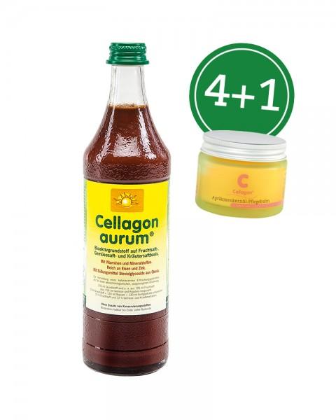 "Set ""Cellagon aurum | 4+Aprik.-Pflegebalm"""