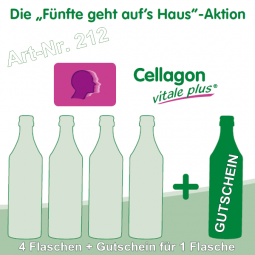 Cellagon vitale plus - Die Fünfte geht auf's Haus